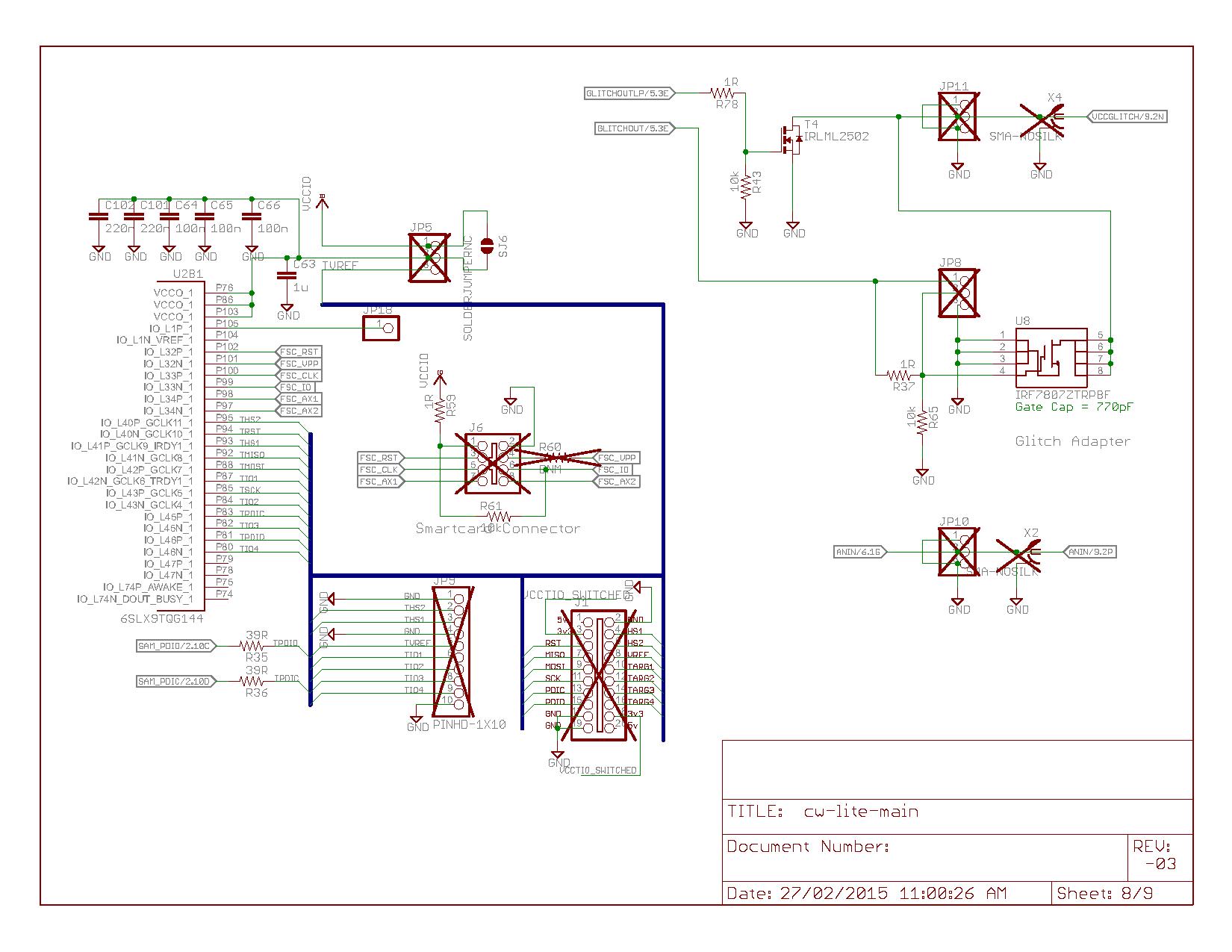 Cw1173 Chipwhisperer Lite Wiki Mosfet Power Amplifier Schematics Cw Main Page 8