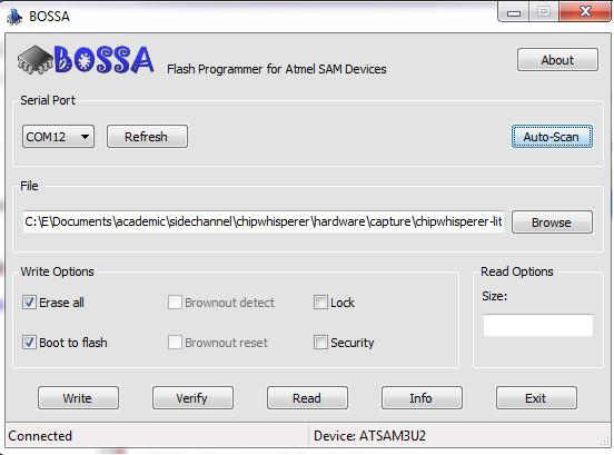 Manual SAM3U Firmware Update - ChipWhisperer Wiki