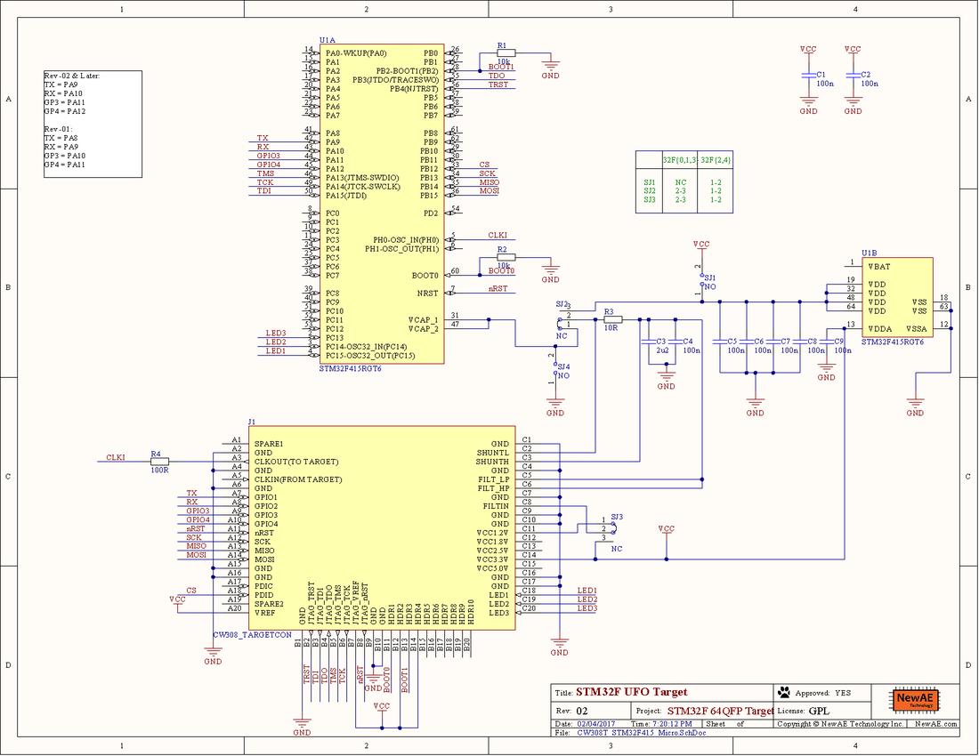 CW308T-STM32F - ChipWhisperer Wiki